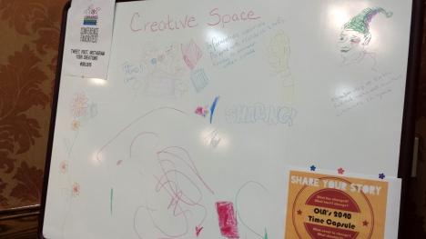 Creative Space whiteboard, OLA 2015