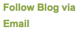 ACRL-Oregon 'Follow Blog via Email' screenshot