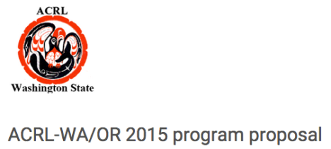 Screenshot of ACRL-WA/OR Joint Fall Conference program proposal form