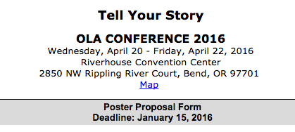 OLA 2016 Posters submission form