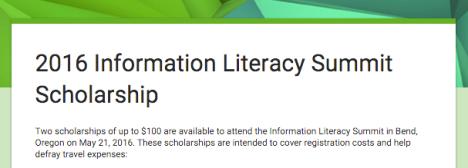 2016 IL Summit Scholarship