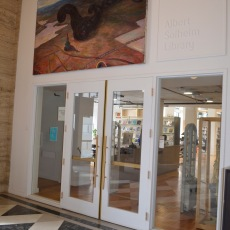 Entrance to the Albert Solheim Library at PNCA. Photo by Dan Kelley.