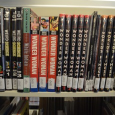 Graphic novels at the Albert Solheim Library. Photo by Dan Kelley.