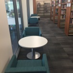 Photograph of Reading nooks in close proximity to collections