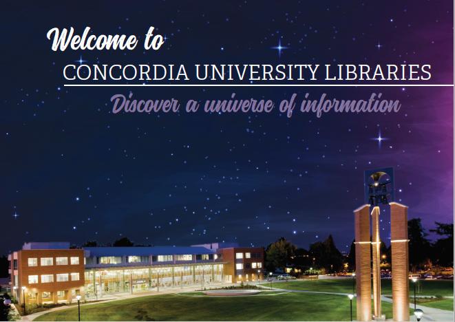 Concordia University Library Postcard